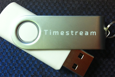 Timestream Legal Software on USB Drive